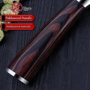 Image 5 - NEUE Santoku messer high carbon edelstahl japanischen küche messer sushi sashimi gemüse koch werkzeuge kreditkarte geschenk messer