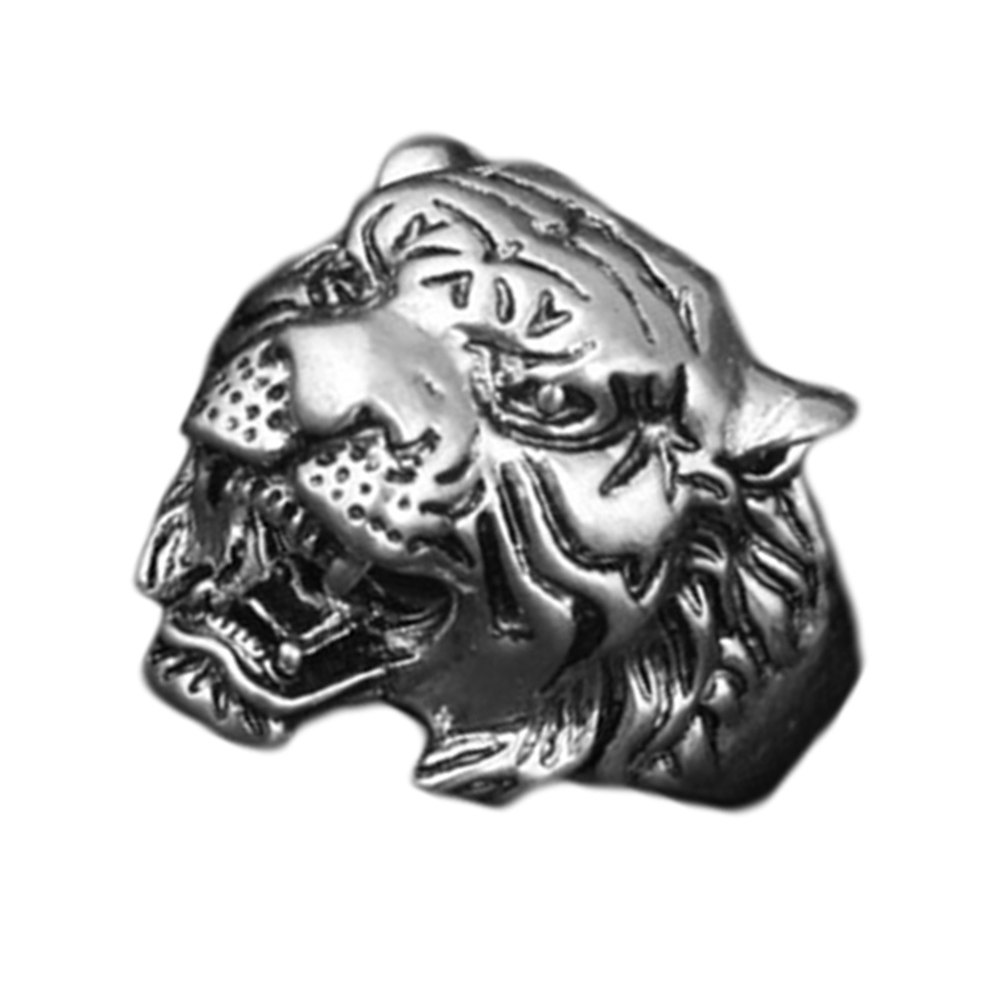 New Design Personality European fashion Animal Tiger Head Ring Men Personality Unique Mens Animal Jewelry