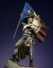 1:24 75mm Resin Figure Model Kit  French revolutionary  Unassambled  Unpainted