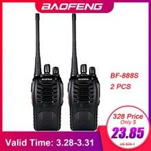 Баофэн в BF-888S рации 2шт рации 16 каналов ФМ УВЧ 400-470 МГц 2-сторонняя Радио трансивера портативный домофонных междугородной фонарик