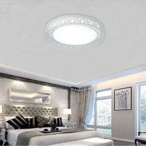 Image 5 - Modern LED ceiling lights for Bedroom living room Iron light fixture Home decorative Black/White Round Bird Nest Ceiling Lamp