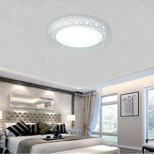 Image 5 - 現代のledシーリングライトリビングルームの鉄照明器具ホーム装飾黒/白ラウンド鳥の巣の天井ランプ