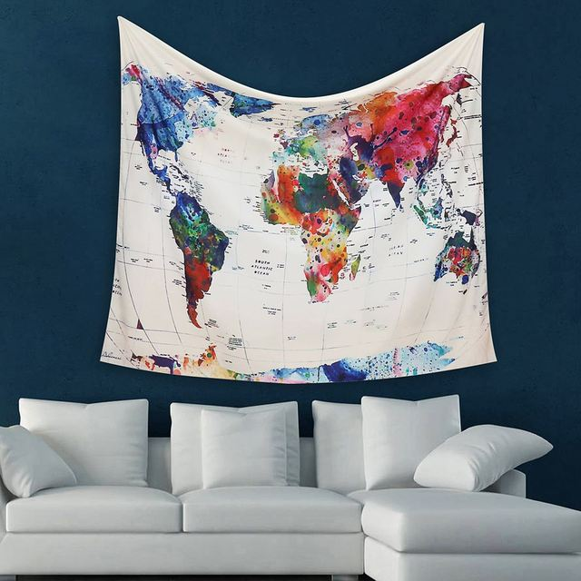 World map indian tapestry 150x130cm wall hanging hippies mandala world map indian tapestry 150x130cm wall hanging hippies mandala bedspread throw blanket picnic mat home dorm gumiabroncs Image collections