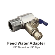 Feed Water Adapter Valve Reverse Osmosis RO System 1/2 Inch Thread to 1/4-Inch Pipe Connection цена в Москве и Питере