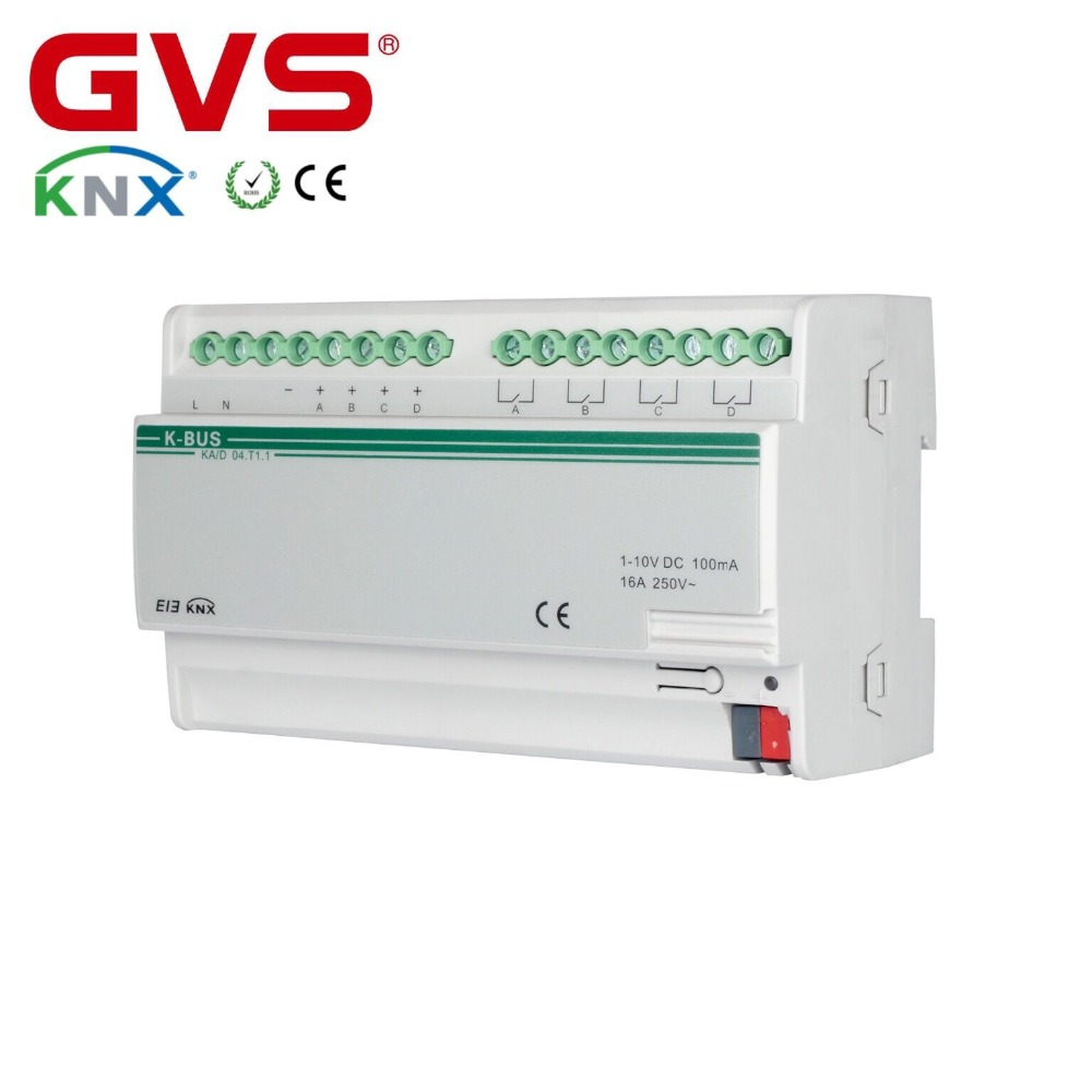 New GVS K-BUS KNX/EIB Smart Home Villa Office Hotel Building Automation System KNX 0-10V Dimming Actuator