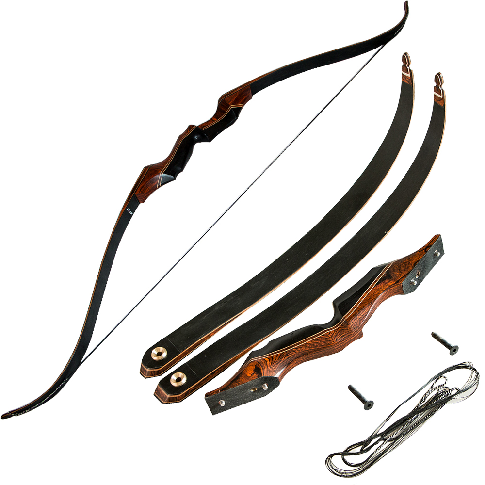 50lbs 58inch Archery Hunting Bow Take Down Wooden Shooting Recurve Bow Fiberglass Bow Limbs for outdoor shooting 1 piece hotsale black snakeskin wooden recurve bow 45lbs archery hunting bow