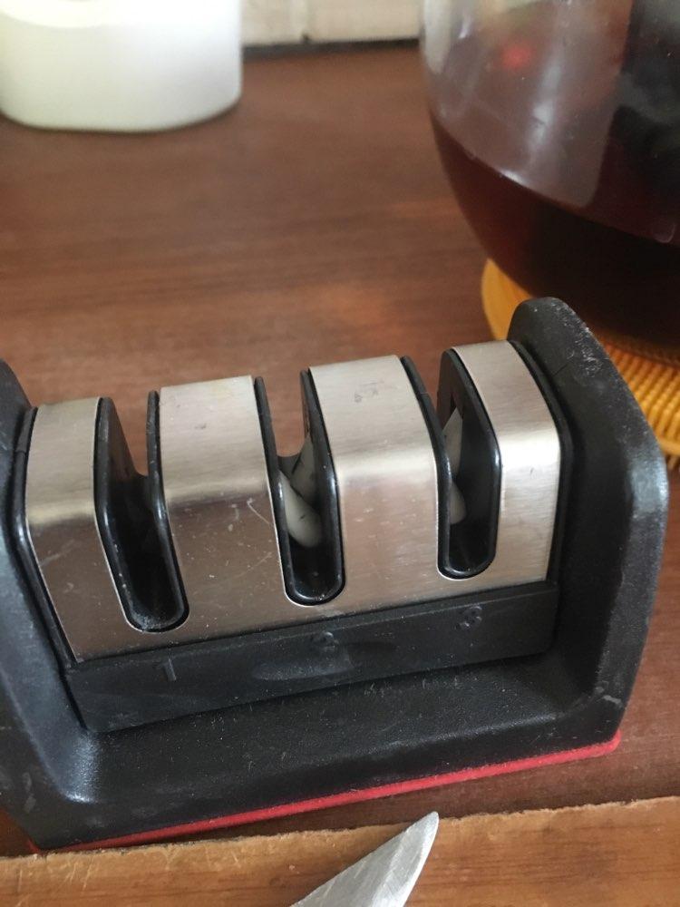 Дропшиппинг Ножи точилка быстро точилка профессиональный 3 этапов Точило для ножа Точильщик нескользящей Силиконовой Резины