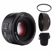 YONGNUO YN50mm f1.8 AF MF Lens YN 50mm Auto Focus lens for Canon EOS DSLR Cameras Lenses with Bag and Lens Filter