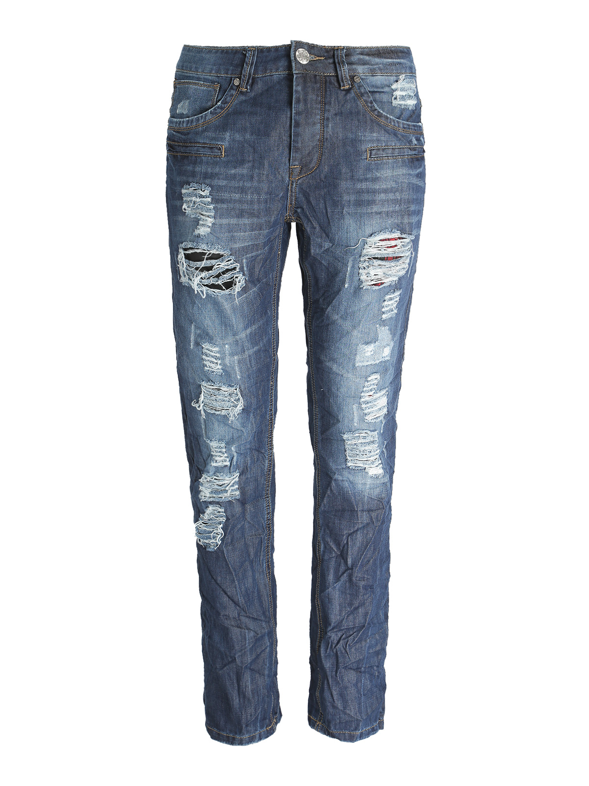 Jeans With Tear-slim Fit
