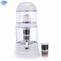 Household Water Bucket 8 Stage Filtration System Water Purifier 16L Filtration Barrel With 2 Pieces Of