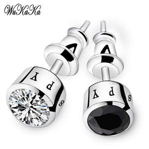 Wukaka Stud Earring For Boy Round 2018 Men Jewelry