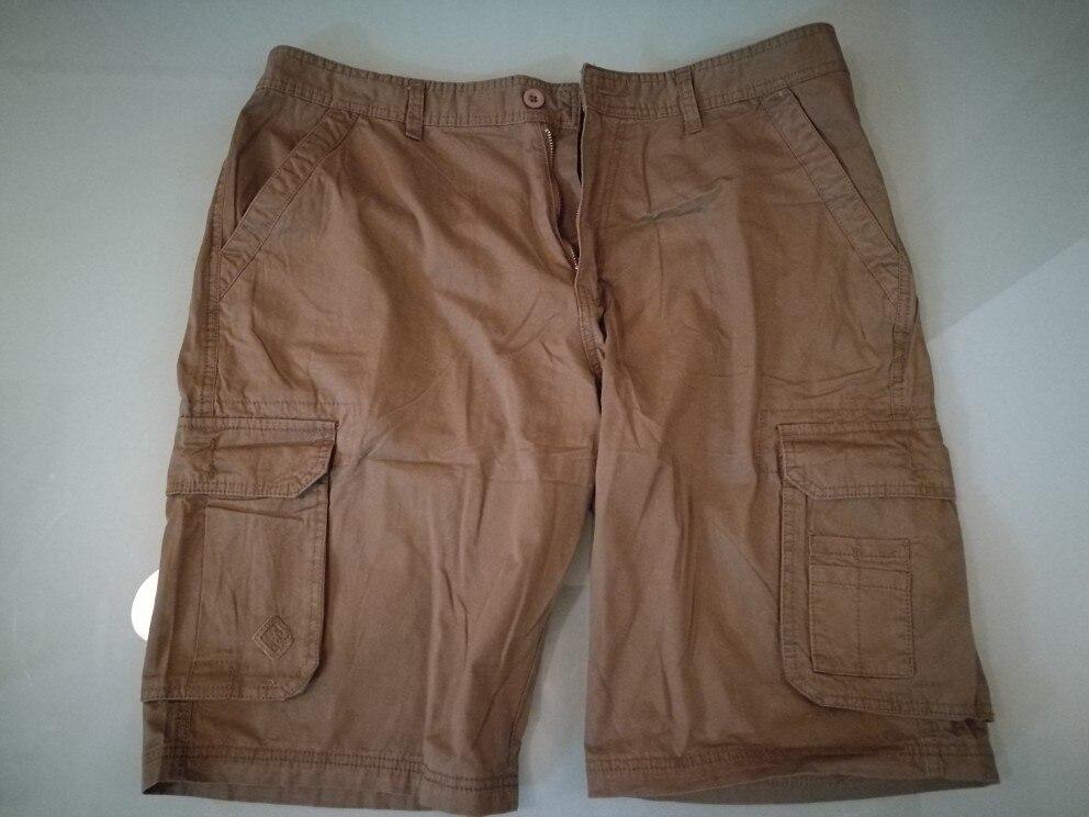 2019 Upgrade version Mens Cargo Shorts Casual Shorts Fashion Pockets Solid Color Army Green Shorts Large V7C1S001  (No belt)