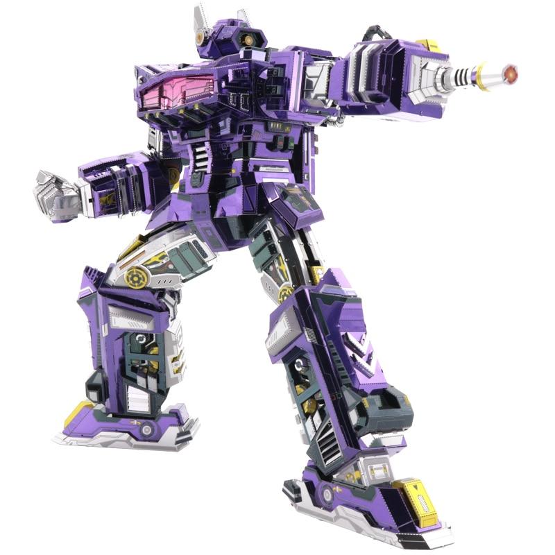 MU Shockwave G1 3D Metal Model Kits DIY Assemble Puzzle Laser Cut Jigsaw Building Toy YM