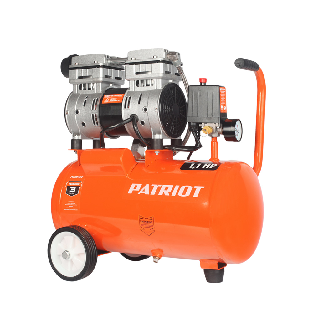 Air compressor PATRIOT WO 24-160 portable air compressor electric pump with barometer