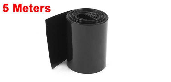sourcing map 2Meter 64mm Width PVC Heat Shrink Wrap Tube Blue for AA Battery Pack