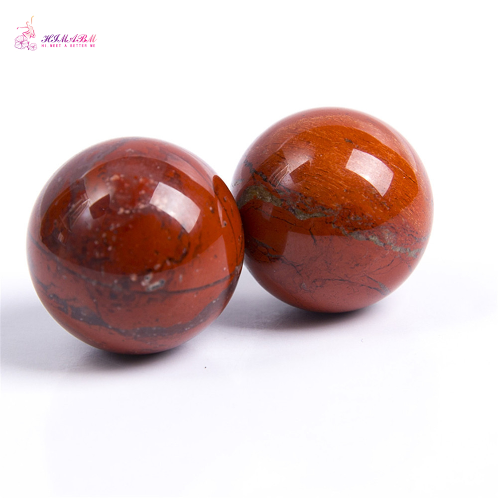 HIMABM 20mm Sphere Natural Gemstone Round Ball Crystal Energy Healing Rock Stone Decor Eye Massage Face Massege Toll
