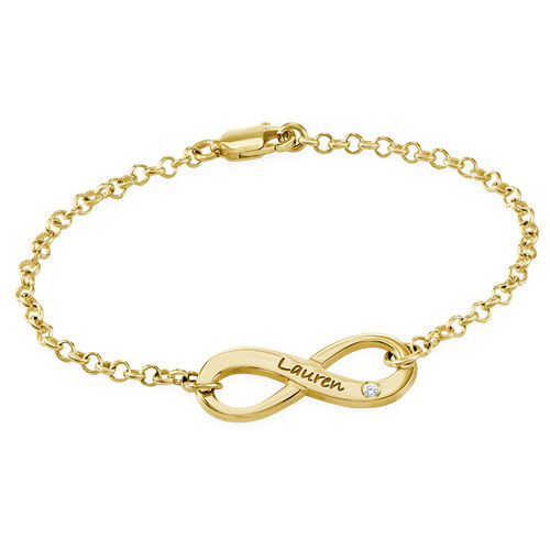 Personalized Engraved Infinity Bracelet