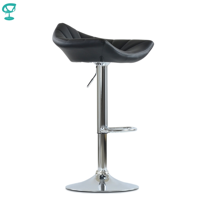 N44CrPuBlack Barneo N-44 PU Leather Kitchen Breakfast Bar Stool Swivel Bar Chair Black Color Free Shipping In Russia