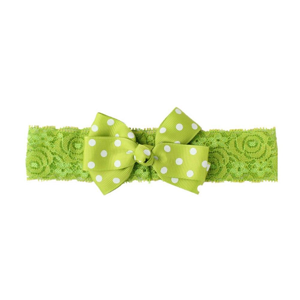1 Piece Fashion Kids Girls Big Wave Point Bowknot Headband Hairband Turban Knot Hair Bands Accessories