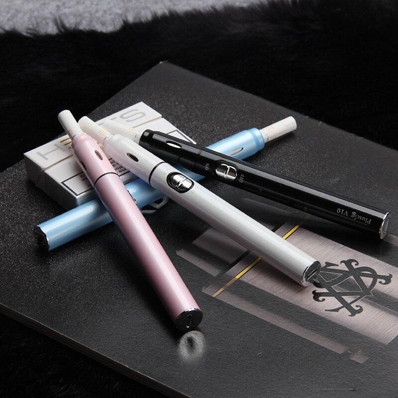 Original Cylindrical Shape cigarette 900mah Battery E Cigarette vape kit for heating Tobacco Dry cigarette vaporizer