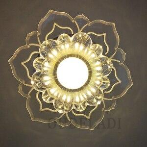 Image 3 - Led Gangpad Lichten Bloem Vormige Crystal Spots Downlighters Ingebed Plafond Creatieve Gang Woonkamer Slaapkamer