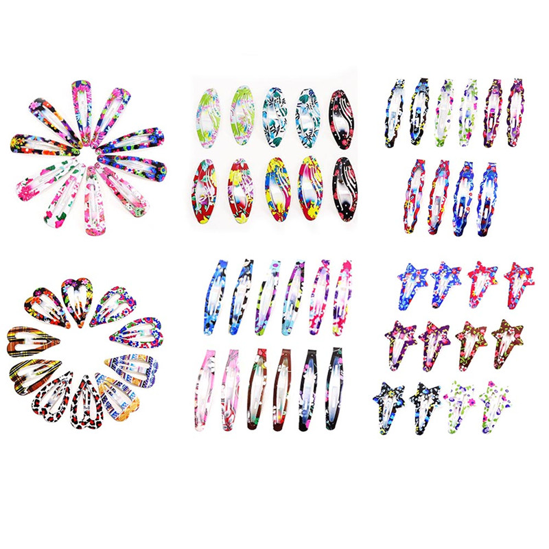 1Pack(10/12PCS)Print Geometric Hair Clips Barrettes Girls Cute Hairpins Colorful Headbands For Kids Hairgrips Hair Accessories 1pack 10pcs hair clips barrettes girls cute hairpins colorful headbands for kids hairgrips hair accessories