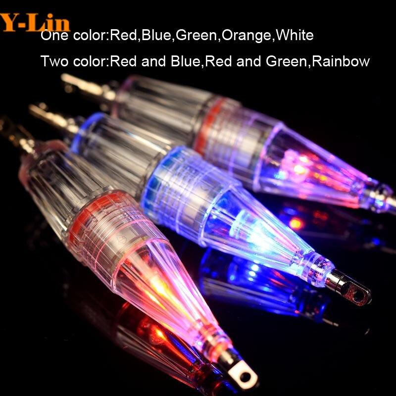 Deep Drop Underwater Fish Attracting Lure LED Fishing Flash Light Bait 15*80mm Attracting Lure LED Fishing Flash Fibre Light
