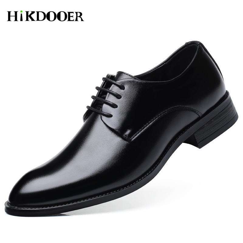 Men Business Shoes Formal Genuine Leather Business Casual Shoes Men Dress Office Luxury Shoes Size 48 Male Breathable Footwear