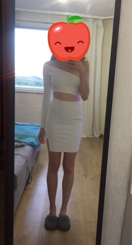 Autumn Women One Shoulder Bodycon Bandage Dress Celebrity Evening Party Dress Sexy Hollow Out Club Dress Vestidos photo review