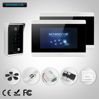 HOMSECUR 7 Video Door Phone Intercom System Electric Strike Lock Set Included 800TVL IR Night Vision BC081 + BM715 S