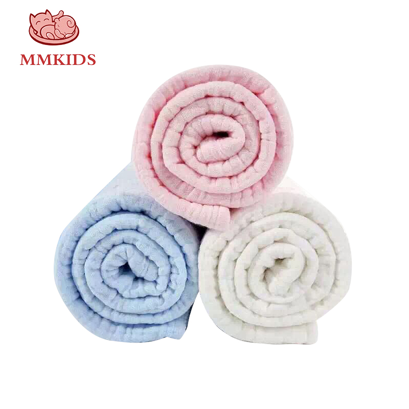 3 Layers Gauze Towel Comfortable Baby Bathrobe Cute Cartoon Powder Blue Babies Blanket Children Towel Bathrobe Baby Towel 1*1m Superior Materials Mother & Kids