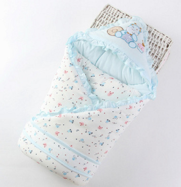 mylb 90*90 cm Baby Sleeping Bag Baby Infant Swaddle Wrap Winter Envelope Cotton for Newborn Pure Cotton Cute baby boy girl infant wrap envelop for newborns sleeping bag pure cotton printed with fawn patterns thicken in autum winter or sprin