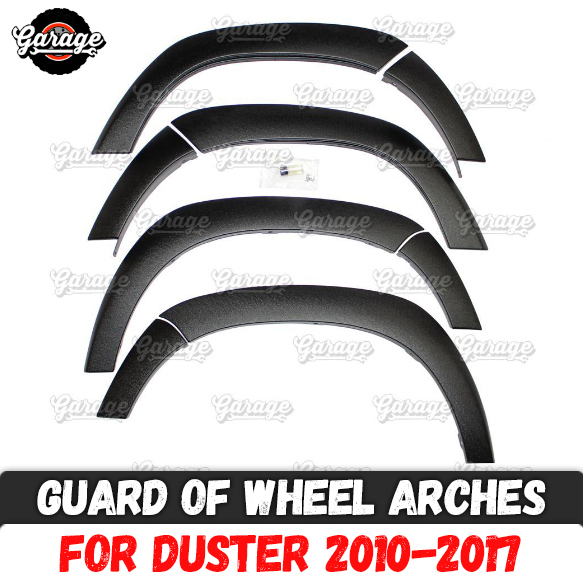 Guard of wheel arches for Renault Dacia Duster 2010 2017 ABS plastic accessories protective plate scratches