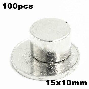 100pcs 15x10mm Super Powerful Strong Bulk Small Round NdFeB Neodymium Disc Magnets Dia 15mm x 10mm N35  Rare Earth NdFeB Magnet