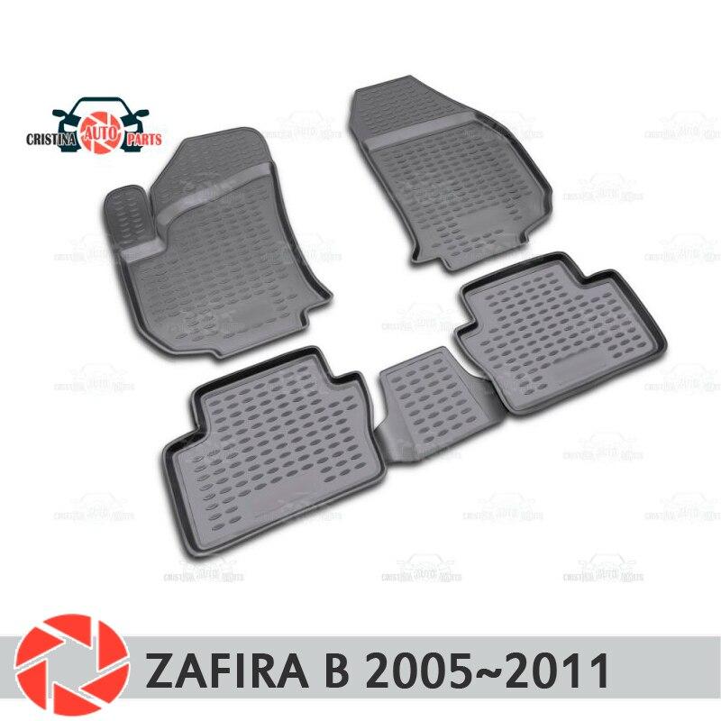 Alfombras de piso para Opel Zafira B 2005 ~ 2011 alfombras antideslizantes de poliuretano tierra protección interior estilo de coche accesorios
