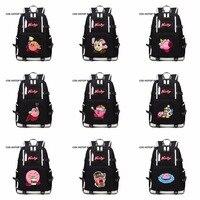 2018 new Kirby unisex Student Backpack Shoulder Knapsack women men Travel bag Laptop Kirby cosplay Printing Packsack 14 style
