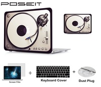 keyboard plastic case Plastic Hard Case Cover Laptop Shell+Keyboard Cover+Screen Film+Dust Plug For Macbook Air 11 A1465 A1370 13 Air A1466 A1369 (2)