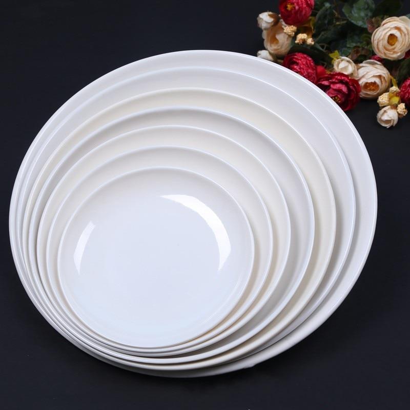 Round melamine dishes plates dinner restaurant food holder for Cuisine melamine