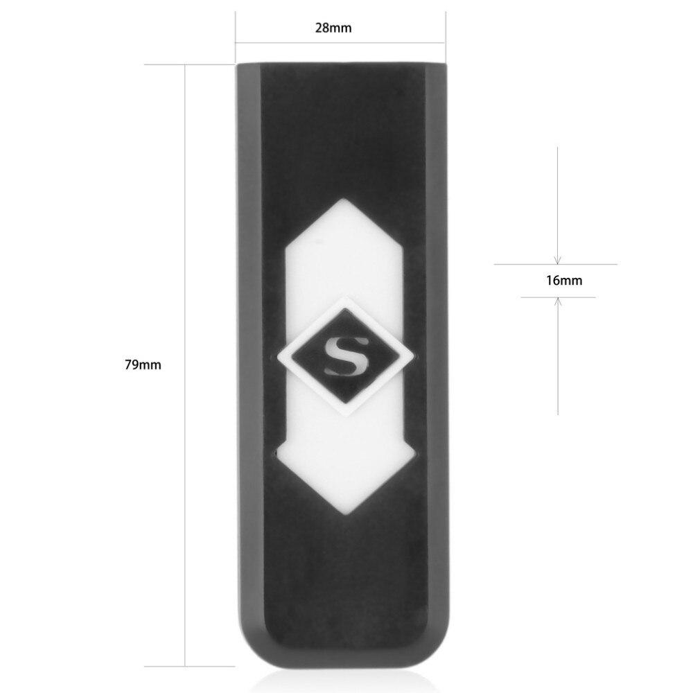 Креативный маленький Перезаряжаемый USB ветрозащитный беспламенный электрический электронный зарядный прикуриватель бездымного супер зажигалки Человек