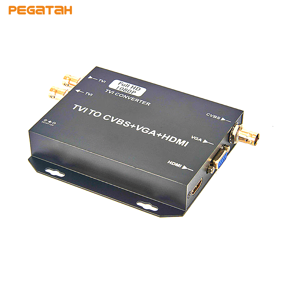 Newest 720P 1080P HD AHD CVI TVI CVBS to HDMI VGA CVBS 4 in 1 Video Converter Support AHD CVI TVI CVBS output ahd cvi tvi cvbs 4 in 1 1 3 6 cmos module 720p 1 0mp with osd function v20e ov9732