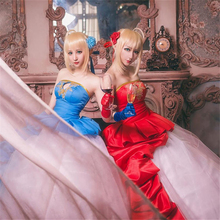 FATE/ZERO TYPE MOON Saber Nero Cosplay Costume 10th Anniversary Blue Red Women Dress Girl Party Halloween Dresses Anime clothes