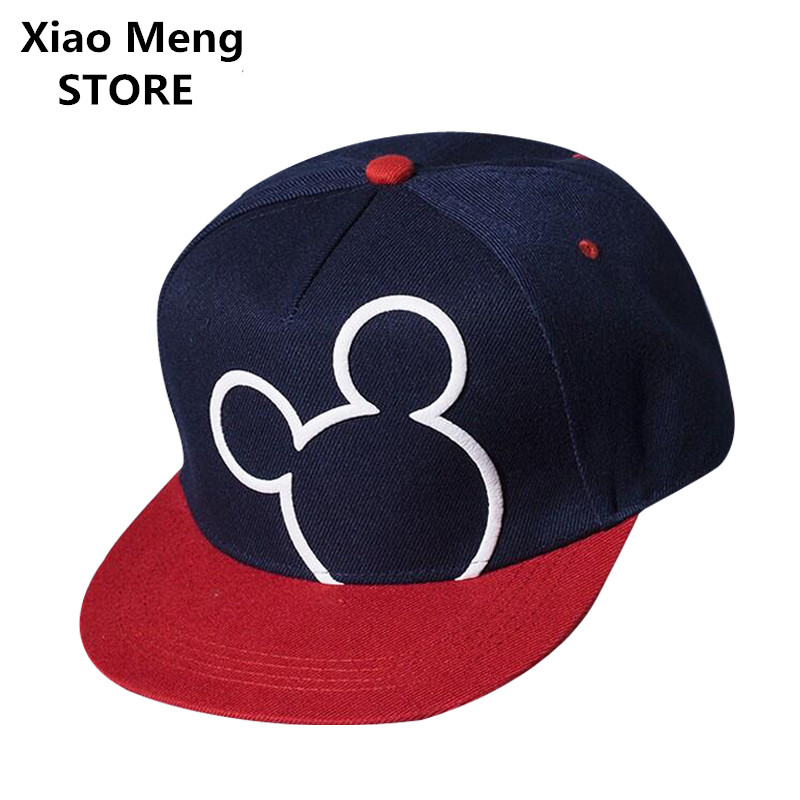 2017 New Cartoon Mouse Baseball Cap Hat For Boys Girls Mouses Snapback Hats Adjustable Embroidery Unisex Hip Hop Caps Bones M59 new 2017 fashion unisex cap bones baseball cap snapbacks hat simple hip hop cap casual sports female hats wholesale