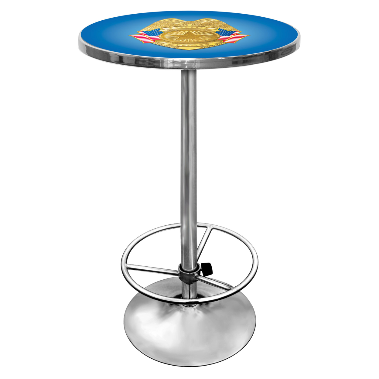 Police Officer Chrome 42 Inch Pub Table police plc 12895ls 02m police