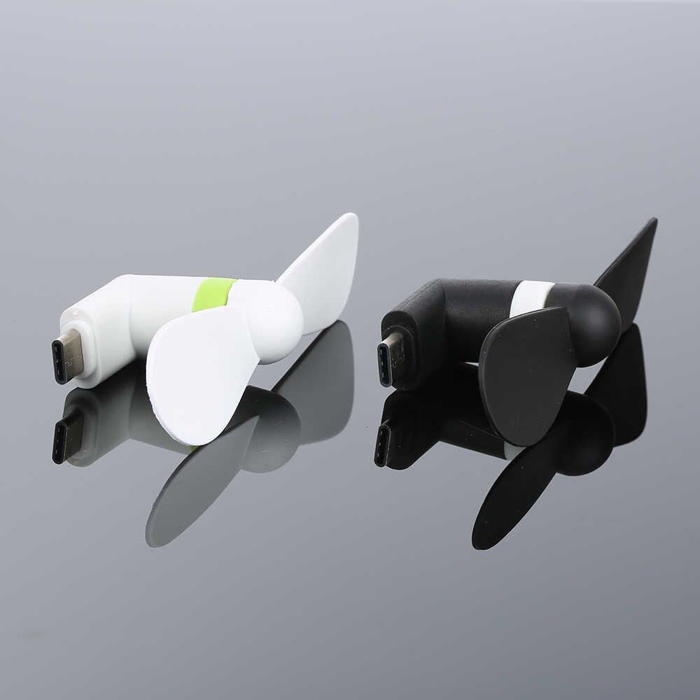 MINI ventilador USB tipo C de bajo consumo para teléfonos inteligentes 1W de potencia 5V