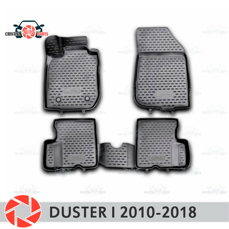 Para renault duster 2010-2018 tapetes antiderrapante poliuretano proteção da sujeira decoração interior do carro estilo acessórios