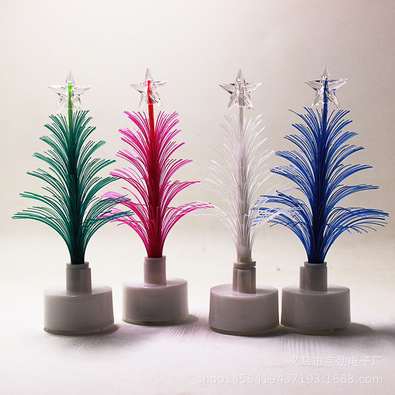 Fibre Optic Christmas Trees Sale: Factory Direct Sale Flashing Christmas Tree Colorful LED