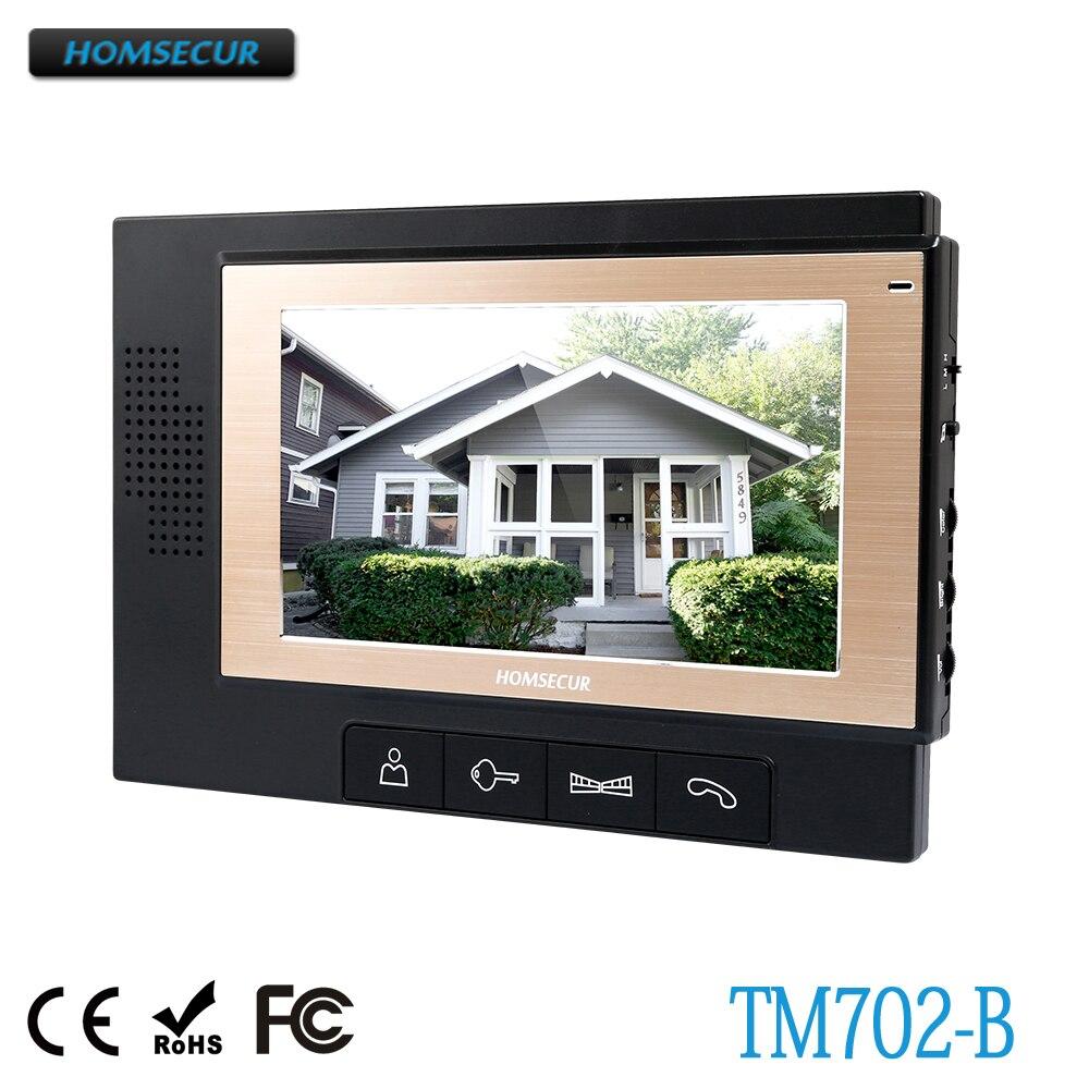 Homsecur Tm702-b Indoor Monitor Für Hdw Verdrahtete Video Tür Telefon Intercom System äRger LöSchen Und Durst LöSchen Türsprechstelle