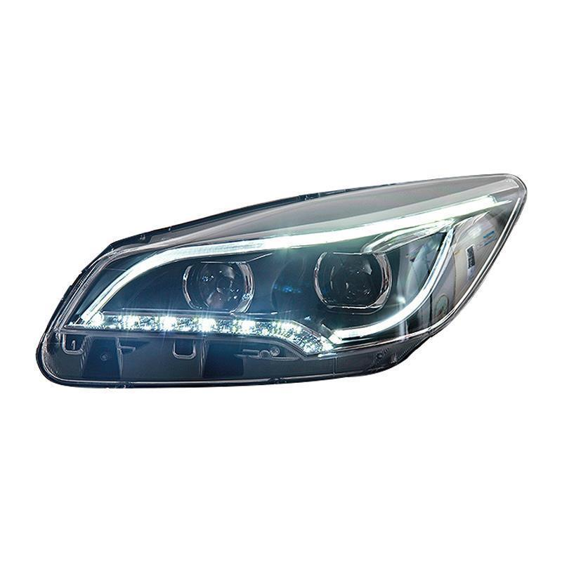 Headlights Exterior Parts Assessoires Daytime Assembly Cob Running Lamp Accessory Drl Auto Styling Car Led Lights For Ford Kuga