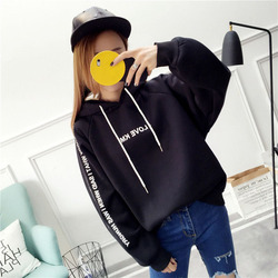 MoneRffi Letter Hoodies Women Printed Fashion Pullovers 2018 Krean Style Oversized Sweatshirts Femme Loose Casual Streetwear 6
