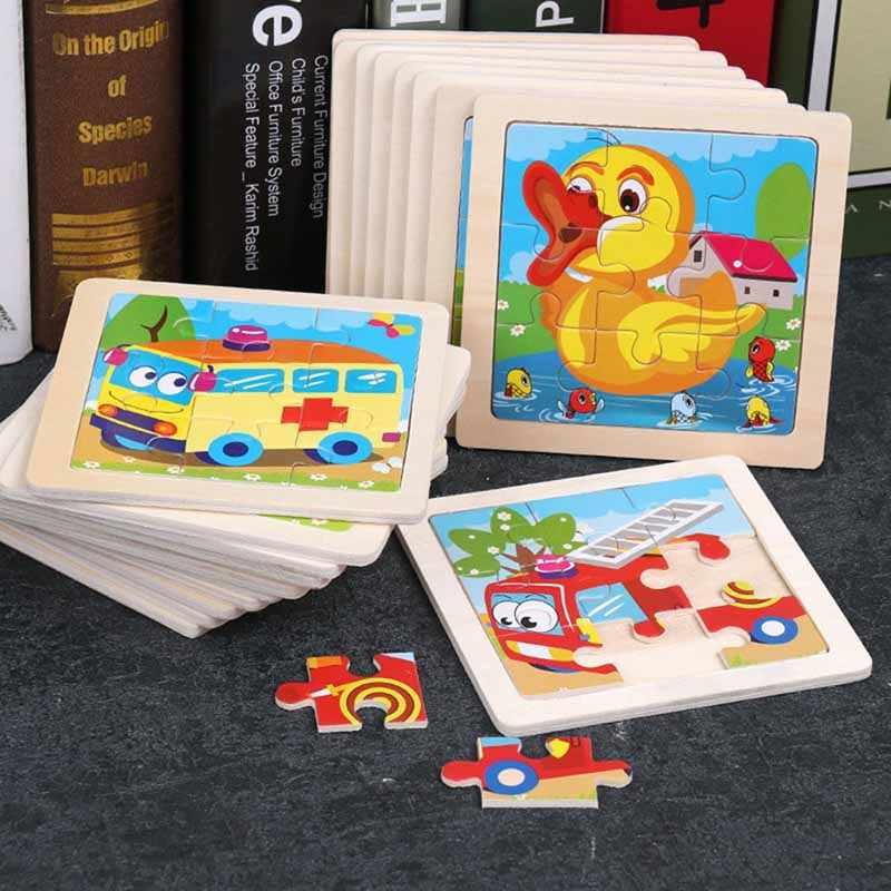 教育木製おもちゃ子供アーリーラーニングパズル子供の練習インテリジェンス動物一致教材木製ジグソーパズル